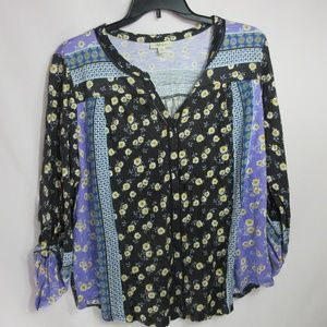 Women's Style & Co. Button up Floral Blouse 2X $49